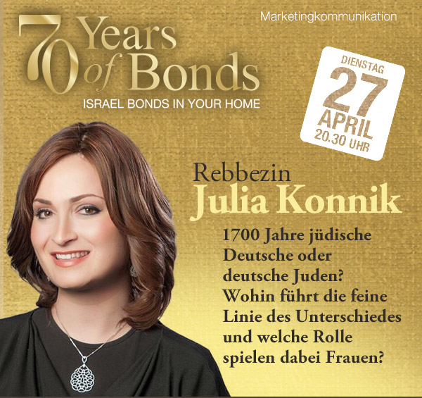 Israel Bonds 70th Series - Julia Konnik - 27 April 2021