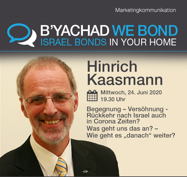Israel Bonds B'yachad We Bond - Hinrich Kaasmann - 24 June 2020