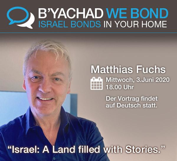 Israel Bonds B'yachad We Bond - Matthias Fuchs 3 June 2020