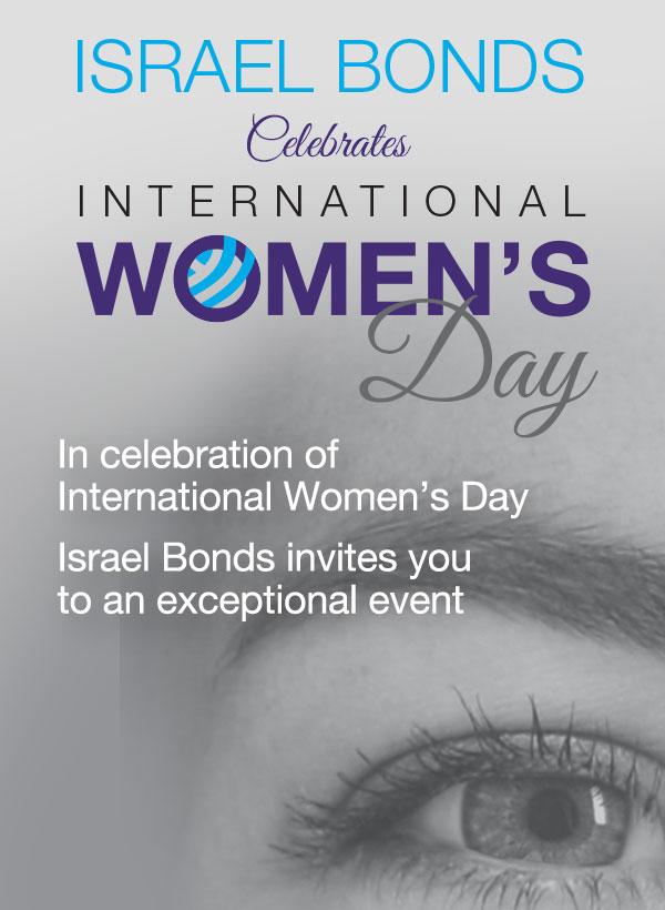 Israel Bonds celebration of International Women's Day - Emma Sinclair MME on March 8, 2019