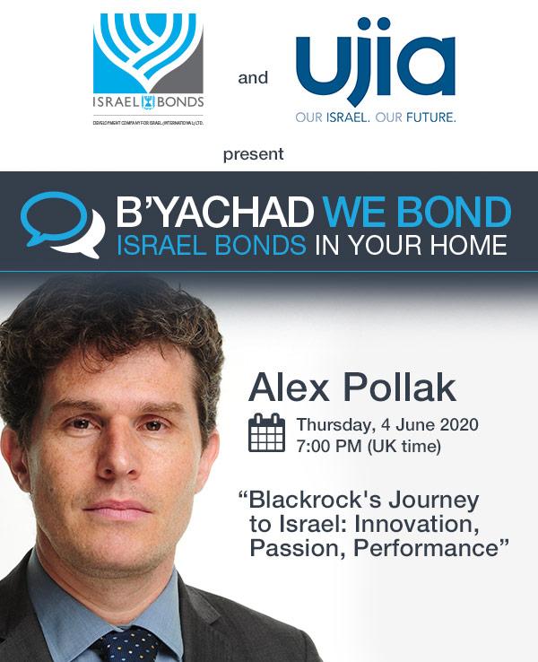 Israel Bonds B'yachad We Bond - Alex Pollak - 4 June 2020