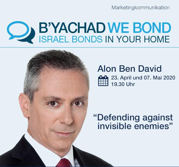 Israel Bonds B'yachad We Bond - Alon Ben-David - 23 April-7 May 2020