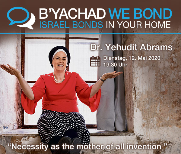 Israel Bonds B'yachad We Bond - Dr. Yehudit Abrams 12 May 2020